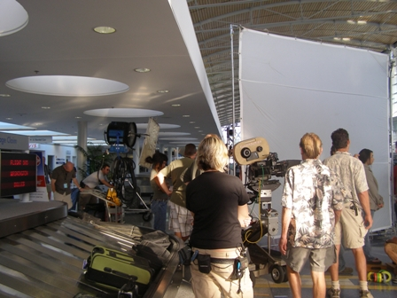 Film Crew in the Lobby