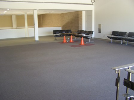 Waiting Area with Safety Cones